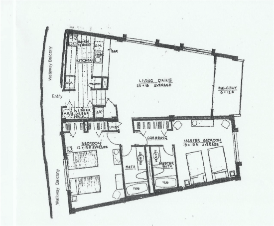 beachfront condo floor plan